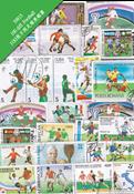 100枚不同有关足球类专题盖销票