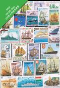 100枚不同船舶类专题盖销票