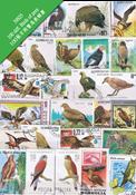 100枚不同鸷鸟专题盖销票