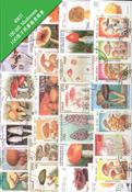 100 枚不同有关磨菇类专题盖销票