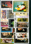 Paintings - Stamp packet - 100 diff.