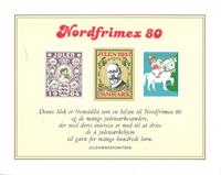 Danmark 1980 Nordfrimex julemærkeblok ng