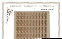 Danmark - Karavel - Prøvemærke brunt - Enkeltmærke