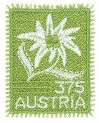 奥地利新邮, 特制票 2005年布艺刺绣邮票, 雪绒花