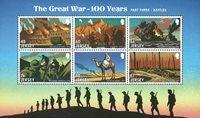 泽西岛邮票 2016纪念伟大的战争 第三部分--战斗 小全张