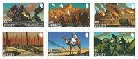 泽西岛邮票 2016纪念伟大的战争 第三部分--战斗 套票6枚