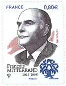 France - Francois Mitterrand - Mint stamp
