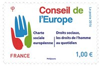 法国邮票 欧洲理事会系列2016 新邮1枚