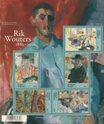 Belgien - Rik Wouters - Postfrisk ark