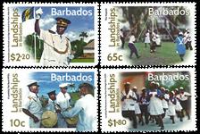 Barbados - Kulturfestival - Postfrisk sæt 4v