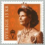 Sverige - Dronning Silvia - Postfrisk frimærke