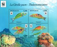 Monaco - Poissons WWF - Bloc-feuillet neuf