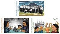 Grønland - Grønland 2.verdenskrig I - Postfrisk sæt 3v