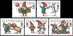 Danmark - Julenisser - Postfrisk sæt 5v