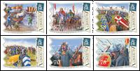 Alderney - Slaget om Hastings - Postfrisk sæt 6v