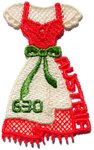 Austria - Dirndl Ladies National Dress - Mint embroidered souvenir sheet