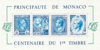 Monaco 1985 YVBF33 1er timbre bloc-feuillet neuf