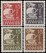 Denmark - Caravel - Global offer - 4 single stamps