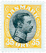 Danemark - Typographie AFA 104