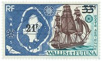 Wallis PA038 * 21 fr Timbres 1955-60 surch. 1971