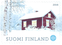 Finland - Red cottage - Mint stamp