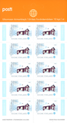 Finland - Red cottage sheet - Mint stamp