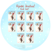 Finland - Girl + squirrel sheet - Mint stamp