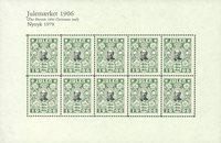 Danmark - Julemærkeark 1976/1906 - Nytryk