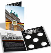 Pochette spéciale pour 5 pièces de 2 euros commémoratives *25 ans d'unité a