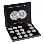 Coffret pour 20 monnaies American Eagle argent (1 oz.) en capsules, noir