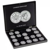 Coffret pour 20 monnaies Maple Leaf argent (1 oz.)  en capsules, noir
