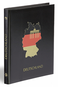 DEUTSCHLAND A4 stockbook, 32 black pages, plain hard cover, black