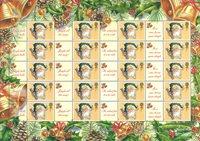 Grande-Bretagne - Feuille Noël 2002 - Feuille Smilers / Père Noël