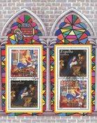 Allemagne / Espagne - Noël 2001 - Bloc-feuillet obl. - Timbre oblitéré