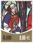 Åland - Kirkevinduer - Postfrisk frimærke