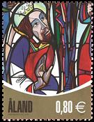 Åland - Fenêtres d'église - Timbre neuf