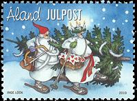 Åland - Noël 2010 - Timbre neuf