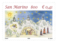 Saint-Marin - Noël 1999 - Timbre neuf