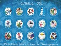 Îles Féroé - Christmas seals 2016 XMAS - Vignettes De Noèl