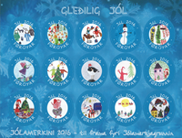 Faroe Islands - Christmas seals 2016 - Christmas Seal Sheet