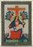 Austria - Glass stamp with Virgin Mary Pietá - Mint s/s with stamp printed on glass. First in the world