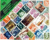 100 timbres du monde entier