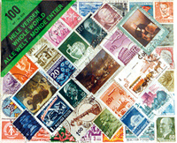 100 WORLD WIDE STAMPS