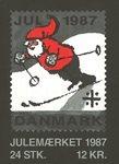 Tanska - Joulu-postimerkkivihote 1987