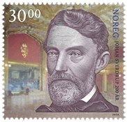 挪威邮票 2016 约翰·斯维德鲁普与白殿背景 单枚 新邮 外国邮票