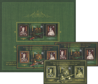 Hungary - Saints 2016 - Numbered mint folder w/3 diff. s/s: normal, black print and special