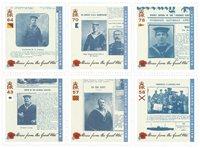 外国邮票 根西岛邮票 战争中的故事 套票6枚 新邮 邮票收藏