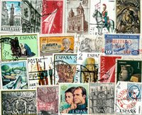20 francobolli commemorativi differenti Spagna