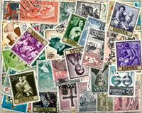 200枚不同西班牙信销票含部分新票