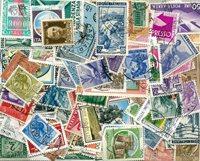 150 francobolli differenti Italia